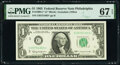 Small Size:Federal Reserve Notes, Fr. 1900-C* $1 1963 Federal Reserve Star Note. PMG Superb Gem Unc 67 EPQ.. ...