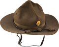 Military & Patriotic:WWI, 12th Cavalry WWI Officer's Campaign Hat. G...