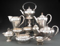 Silver & Vertu, A Married Ten-Piece Georg Jensen No. 3 Silver and Ebony Coffee and Tea Service Designed by Georg Jensen, Copenha... (Total: 10 )