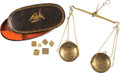 Western Expansion:Goldrush, Gold Scales in Original Tin Box.. ...