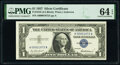 Matching Low Serial Number 1872 Fr. 1619 $1 1957 Silver Certificate. PMG Choice Uncirculated 64 EPQ and Fr. 1907-C $1 19...