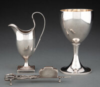 Three English Silver Table Articles, London, 1780 and later Marks to each: (lion passant), (crowned leopard's head), (va...