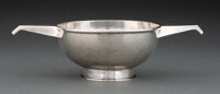 A Salen Silver (Angus John Milne) Silver Two-Handled Porringer, Edinburgh, 1991 Marks: (lion rampant), (three towers), R...