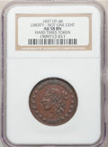 Hard Times Tokens, 1837 Token Liberty-Not One Cent, HT-48, AU58 NGC. PCGS Population: (2/3). (77495)....