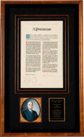 Autographs:U.S. Presidents, Harry S. Truman Inscribed and Signed Proclamation of Nazi Germany's Surrender. ...
