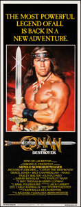 """Movie Posters:Action, Conan the Destroyer (Universal, 1984). Rolled, Fine+. Insert (14"""" X 36""""). Action.. ..."""