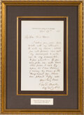 Autographs:Military Figures, General George Meade Autograph Letter Signed. One...