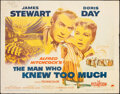 """Movie Posters:Hitchcock, The Man Who Knew Too Much (Paramount, 1956). Rolled, Fine. Half Sheet (22"""" X 28"""") Yellow Style. Hitchcock.. ..."""
