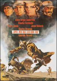 """Once Upon a Time in the West (Paramount, 1969). Rolled, Near Mint-. German A1 (23.5"""" X 33"""") Frank McCarthy Art..."""