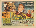 Movie Posters:Comedy, Francis in the Haunted House & Other Lot (Universal International, 1956). Folded & Rolled, Fine/Very Fine. Half Sheets (2) (... (Total: 2 Items)