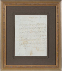 John Brown Autograph Letter Signed