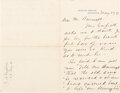 Autographs:U.S. Presidents, James Garfield Autograph Letter Signed as President. ...