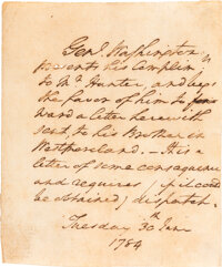 George Washington Autograph Letter Signed in the Text