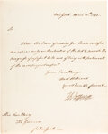 Autographs:U.S. Presidents, Thomas Jefferson Letter Signed to Governor George Clinton. ...