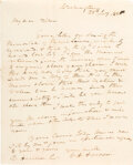 Autographs:U.S. Presidents, William Henry Harrison Autograph Letter Signed with Franking Signature. ...