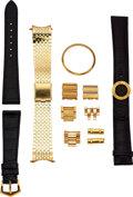 Timepieces:Other , Two Patek Philippe Bands/Clasp/Buckle, 14k Gold Jewelers Band, Misc. Links. ... (Total: 4 Items)