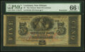 Obsoletes By State:Louisiana, New Orleans, LA- Citizens' Bank of Louisiana $5 18__ Remainder PMG Gem Uncirculated 66 EPQ.. ...