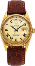 Timepieces:Wristwatch, Rolex, Ref. 1803 Gold Oyster Perpetual Day-Date, Buckley Dial, circa 1977. ...