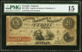 Obsoletes By State:Georgia, Augusta, GA- Augusta Insurance & Banking Co. $20 Oct. 10, 1855 PMG Choice Fine 15.. ...