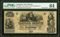 Obsoletes By State:Louisiana, New Orleans, LA- Canal Bank $50 18__ Remainder PMG Choice Uncirculated 64. ...