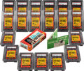 Football Cards:Unopened Packs/Display Boxes, 1963 Topps Football PSA-Graded Wax Packs (19) With Original Retail Box. ...