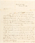 Autographs:U.S. Presidents, James K. Polk Autograph Letter Signed and Initialed.
