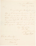 Autographs:Military Figures, Isaac Hull Letter Signed. ...