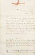Autographs, Battle Report for the 16th Massachusetts Infantry, May - June 1864. ...