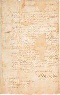 Autographs:U.S. Presidents, [Revolutionary War]. George Washington Letter Signed with Period Transcription. ...
