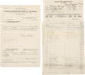 Autographs:Artists, Diego Rivera MoMa Signed Contract. ...