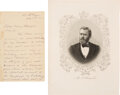 """Autographs:U.S. Presidents, Ulysses S. Grant Letter Signed. Two pages, 5"""" x 8..."""