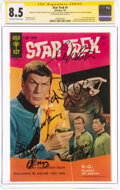 Silver Age (1956-1969):Science Fiction, Star Trek #1 Signature Series - Cast-Signed (Gold Key, 1967) CGC VF+ 8.5 Off-white to white pages....