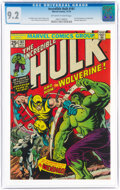 Bronze Age (1970-1979):Superhero, The Incredible Hulk #181 (Marvel, 1974) CGC NM- 9.2 Off-white to white pages....