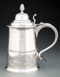 A Paul Revere, Jr. Silver Tankard, Boston, circa 1790 Marks: REVERE (Kane C) 10 x 8 inches (25.4 x 20.3 cm) 33.7 troy