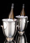 A Rare Pair of Georg Jensen Silver No. 725B Pyramid Wine Coolers Desig... (Total: 2)