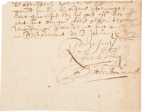Peter Stuyvesant Partial Document Signed