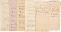 Autographs:Military Figures, Group of Jack Shackelford Autograph Letters Signed. ...