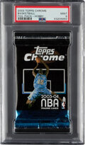Basketball Cards:Unopened Packs/Display Boxes, 2003 Topps Chrome Basketball Unopened Pack PSA Mint 9....