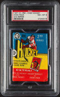 Hockey Cards:Unopened Packs/Display Boxes, 1971 O-Pee-Chee Hockey (2nd Series) Wax Pack PSA NM-MT 8. - A Scarce Pack! ...