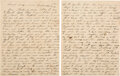 Autographs:Military Figures, [Battle of Chancellorsville] Charles M. Anderson of Co. I, 33rd North Carolina Infantry, CSA: Letter to His Parents Describing...