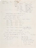 Autographs, Albert Einstein Autograph Manuscript Field Equations...