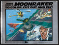 """Movie Posters:James Bond, Moonraker to Color, cut Out and Fly! (Price/Stern/Sloan, 1979). Very Fine-. Paper Cut-Out Book (48 Pages, 8.5"""" X 11"""") & Span... (Total: 6 Items)"""