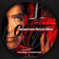 """Tomorrow Never Dies (United Artists, 1997) Mint. Movie Theater Hanging Mobiles (3) (19.5"""" Diameter) DS Advance. Jam..."""