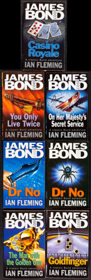 James Bond Book Lot (Coronet Books, 1985-1998). Overall: Very Fine. British Paperback Books (41) & Signed British Pa...