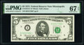 Small Size:Federal Reserve Notes, Fr. 1973-I* $5 1974 Federal Reserve Star Note. PMG Superb Gem Unc 67 EPQ.. ...