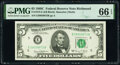 Small Size:Federal Reserve Notes, Fr. 1972-E; F $5 1969C Federal Reserve Notes. PMG Gem Uncirculated 66 EPQ.. ... (Total: 2 notes)
