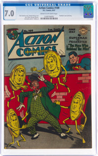 Action Comics #109 (DC, 1947) CGC FN/VF 7.0 Cream to off-white pages