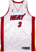 """Baseball Collectibles:Balls, 2004-05 Dwyane Wade Game Worn Miami Heat Jersey Signed """"Game Used '05"""" with Letter from Marketing Agent. ..."""