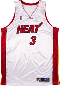 """2004-05 Dwyane Wade Game Worn Miami Heat Jersey Signed """"Game Used '05"""" with Letter from Marketing Agent"""