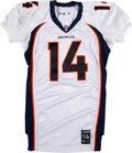 Football Collectibles:Uniforms, 2001 Brian Griese Game Worn Denver Broncos Jersey....